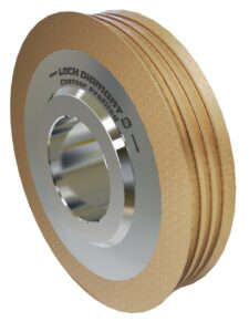 The unique metal bond of the »contour-profiled« diamond and CBN grinding wheel makes the process of deep grinding significantly easier